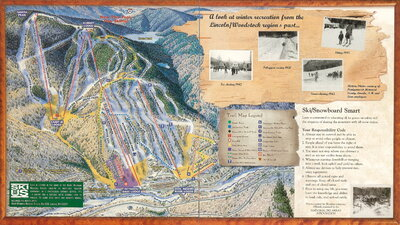 Loon Mountain 1999 Brochure Trail Map