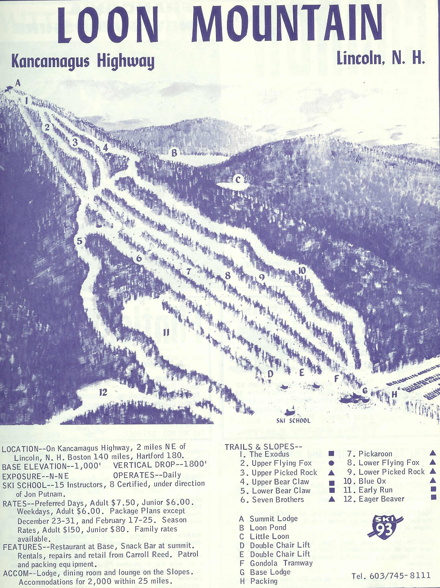 Loon mountain skimap 1969 publicscrutiny Images