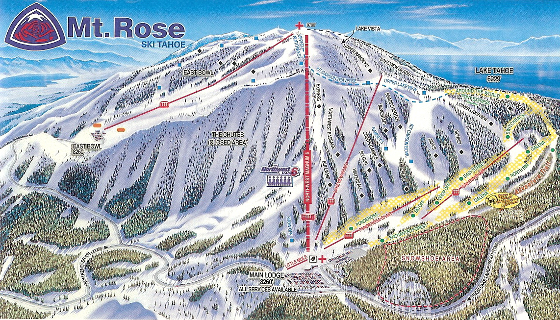 Mt. Rose Ski Tahoe - SkiMap.org Tahoe Ski Resort Map on