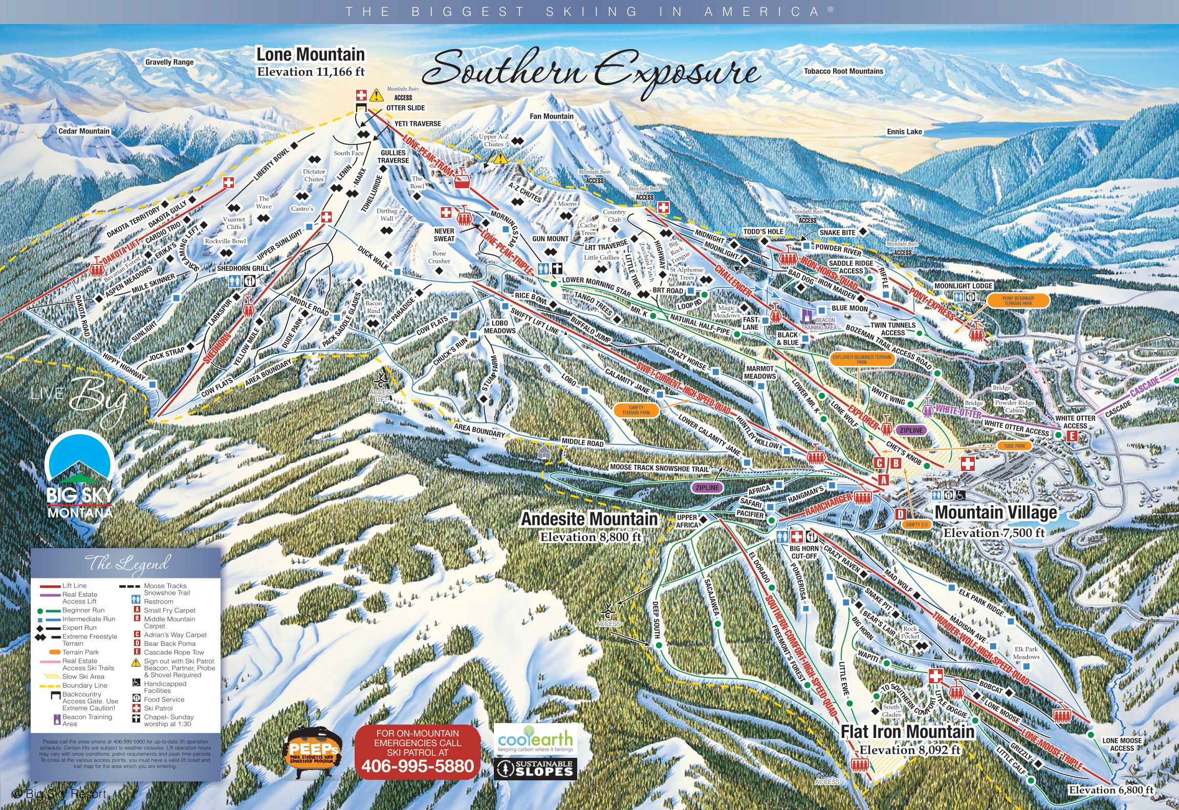 Big Sky Resort - SkiMap.org Big Sky Lodging Map on