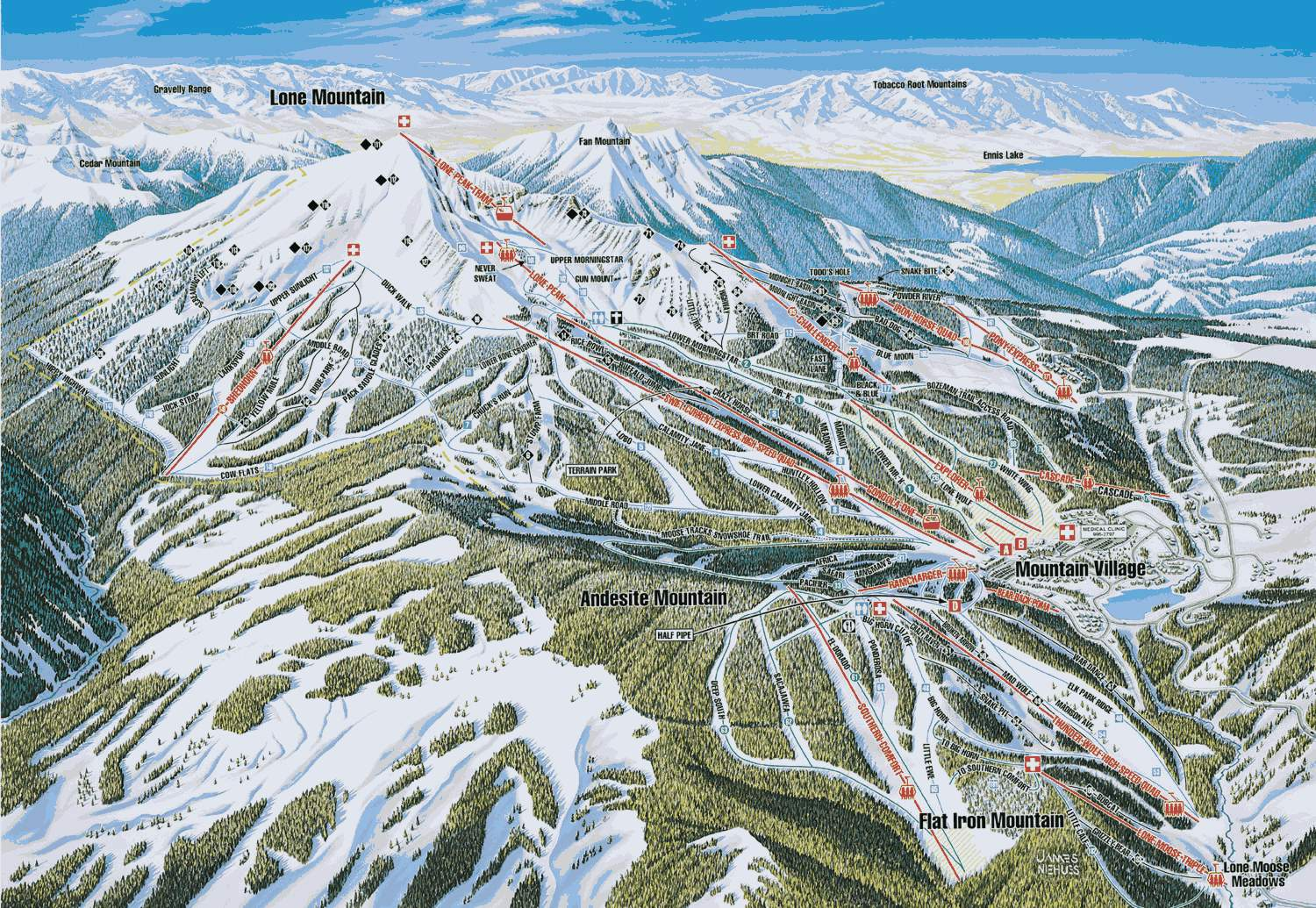 big sky resort - skimap