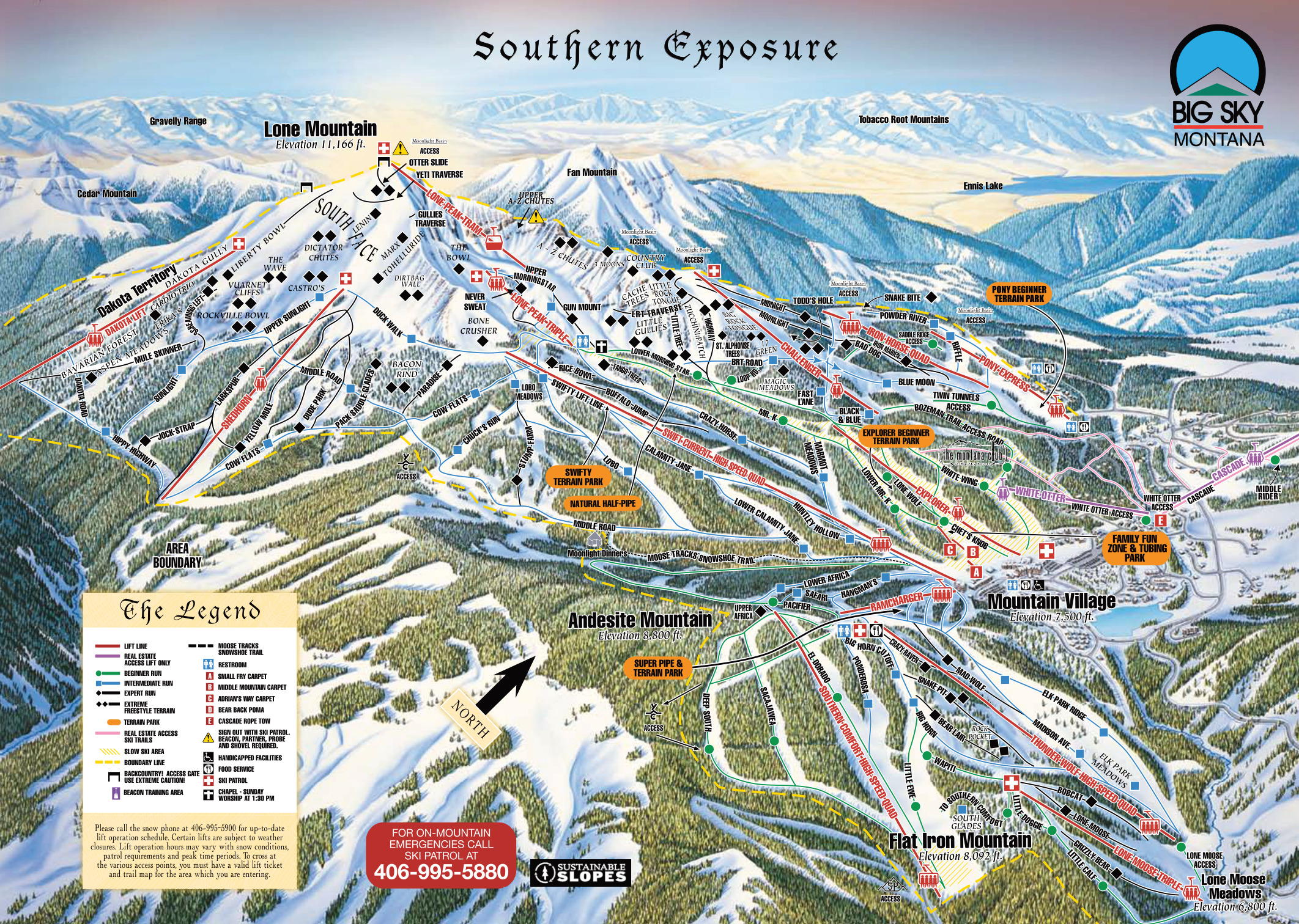 Big Sky Resort Skimap Org