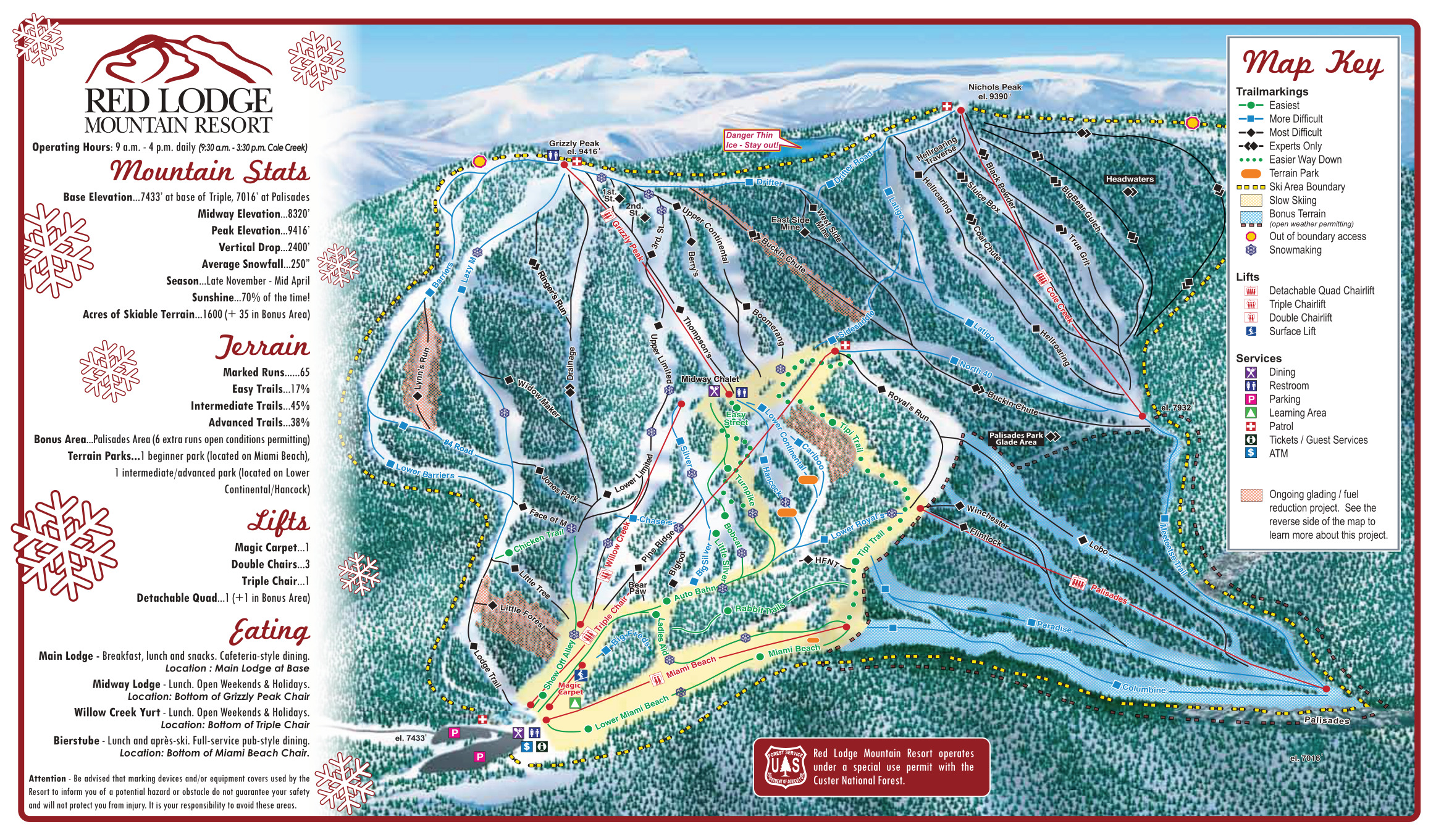 red lodge mountain - skimap