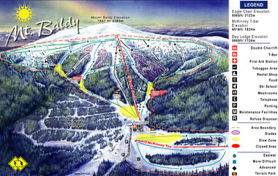2005-07 Mt Baldy Downhill Map
