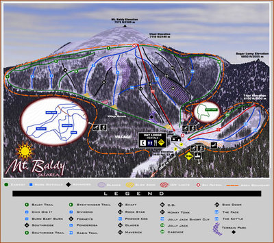 2003-05 Mt Baldy Downhill Map