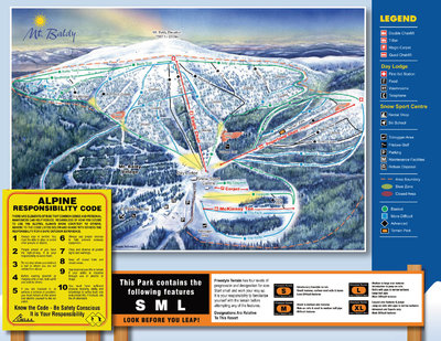 2007-08 Mt Baldy Ski Map