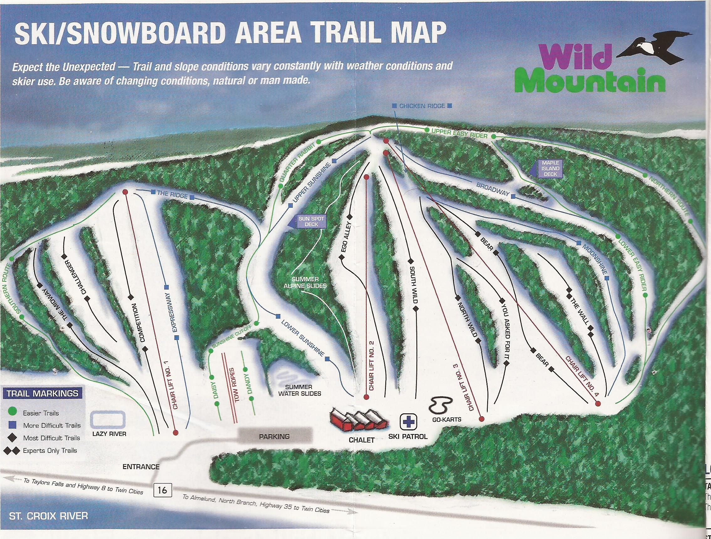 Wild Mountain Ski Area - SkiMap org