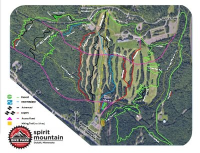 Bike Park Trail Map