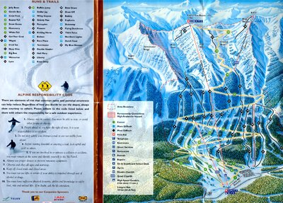 2000-01 Kicking Horse Downhill Map