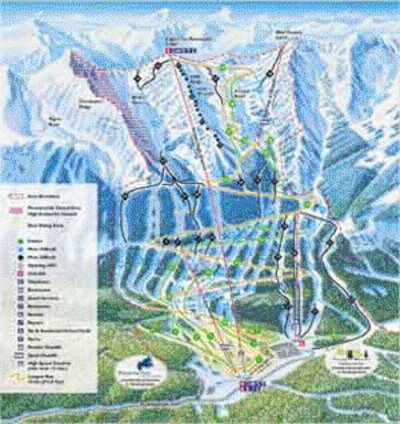 2001-02 Kicking Horse Downhill Map