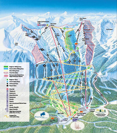 2002-03 Kicking Horse Downhill Map