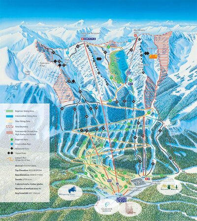 2003-04 Kicking Horse Downhill Map