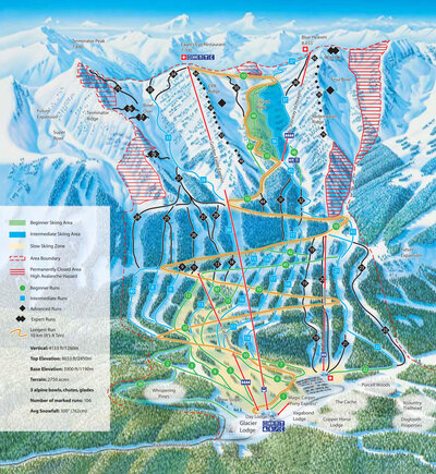 2004-05 Kicking Horse Downhill Map