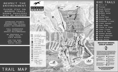 2003 Kicking Horse Biking Map