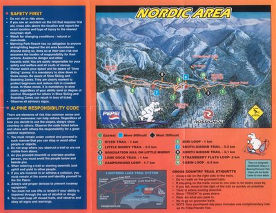 2004-07 Manning Park Cross Country Map