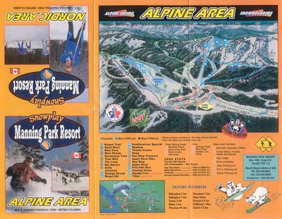 2004-07 Manning Park Downhill Map