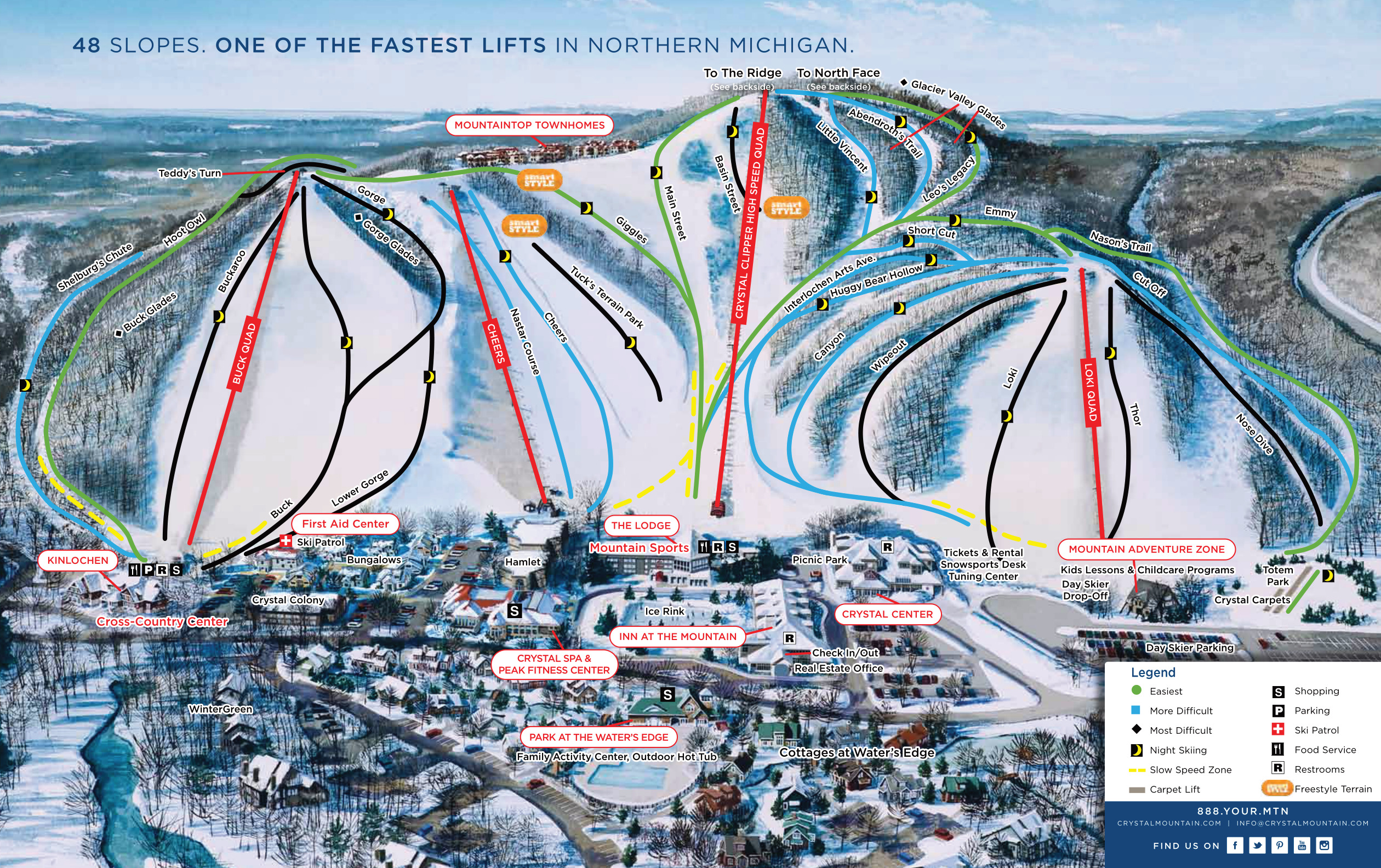 Crystal Mountain   SkiMap.org