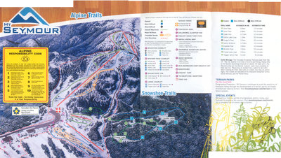 2007-08 Seymour Downhill/Snowshoe Map