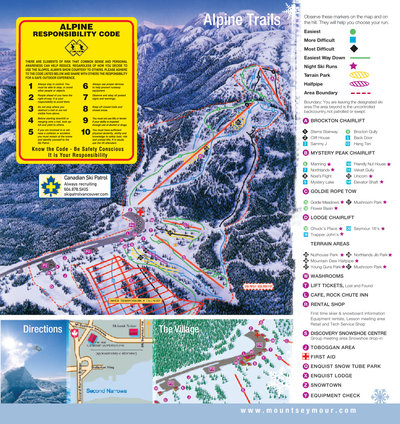 2003-06 Seymour Downhill Map