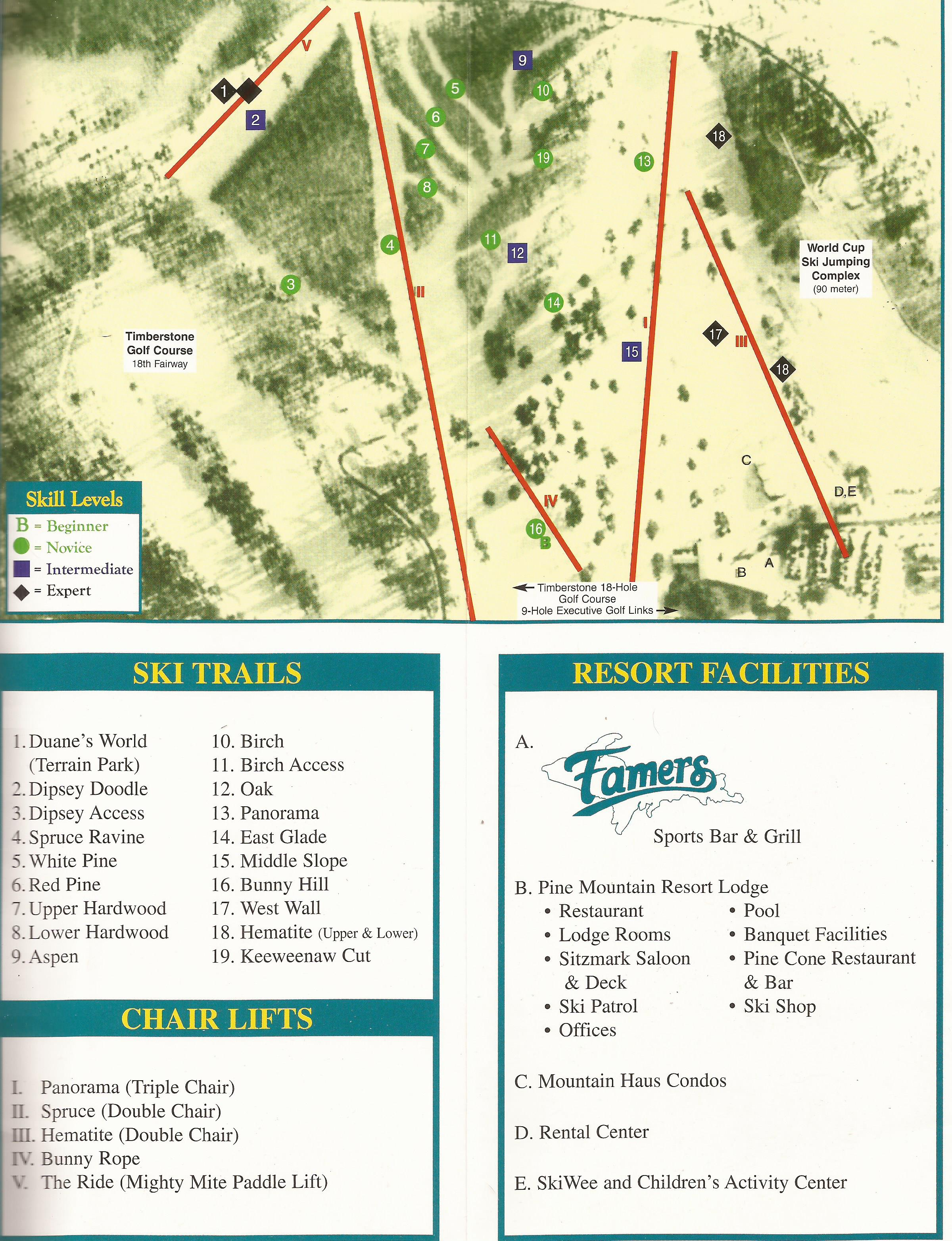 pine mountain resort - skimap