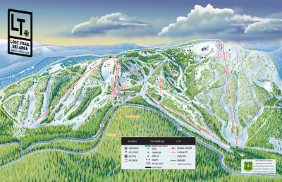 2016 Lost Trail Map from Website