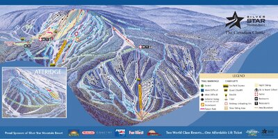 2002-03 Silver Star Downhill Map