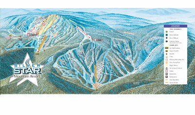 2003-04 Silver Star Downhill Map