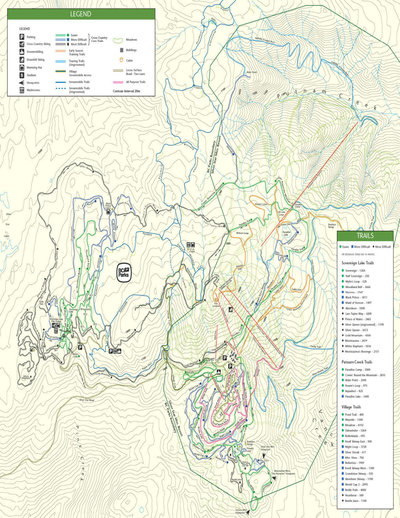 2003-04 Silver Star Nordic Map
