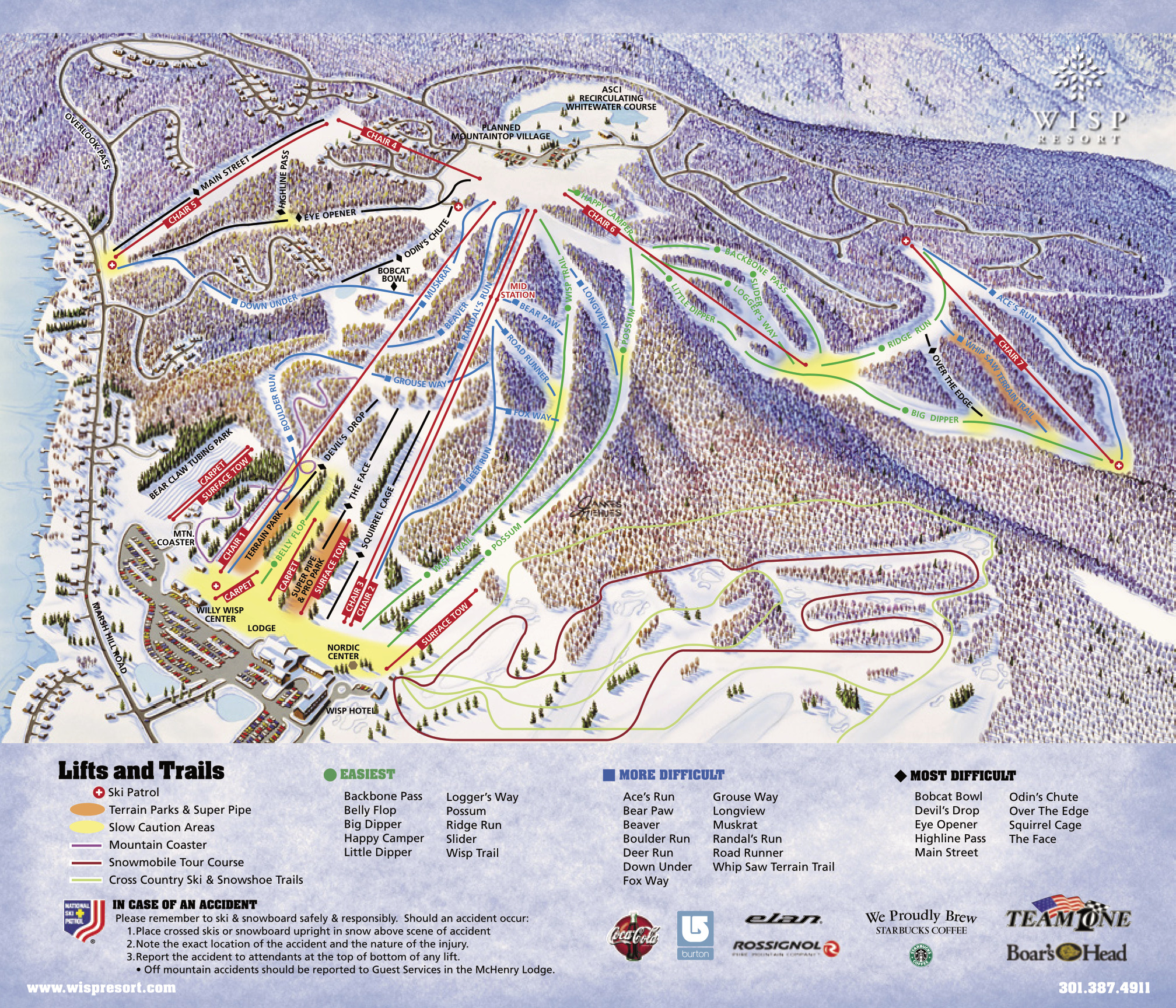 Wisp At Deep Creek Mountain Resort SkiMaporg - Western us ski resorts map
