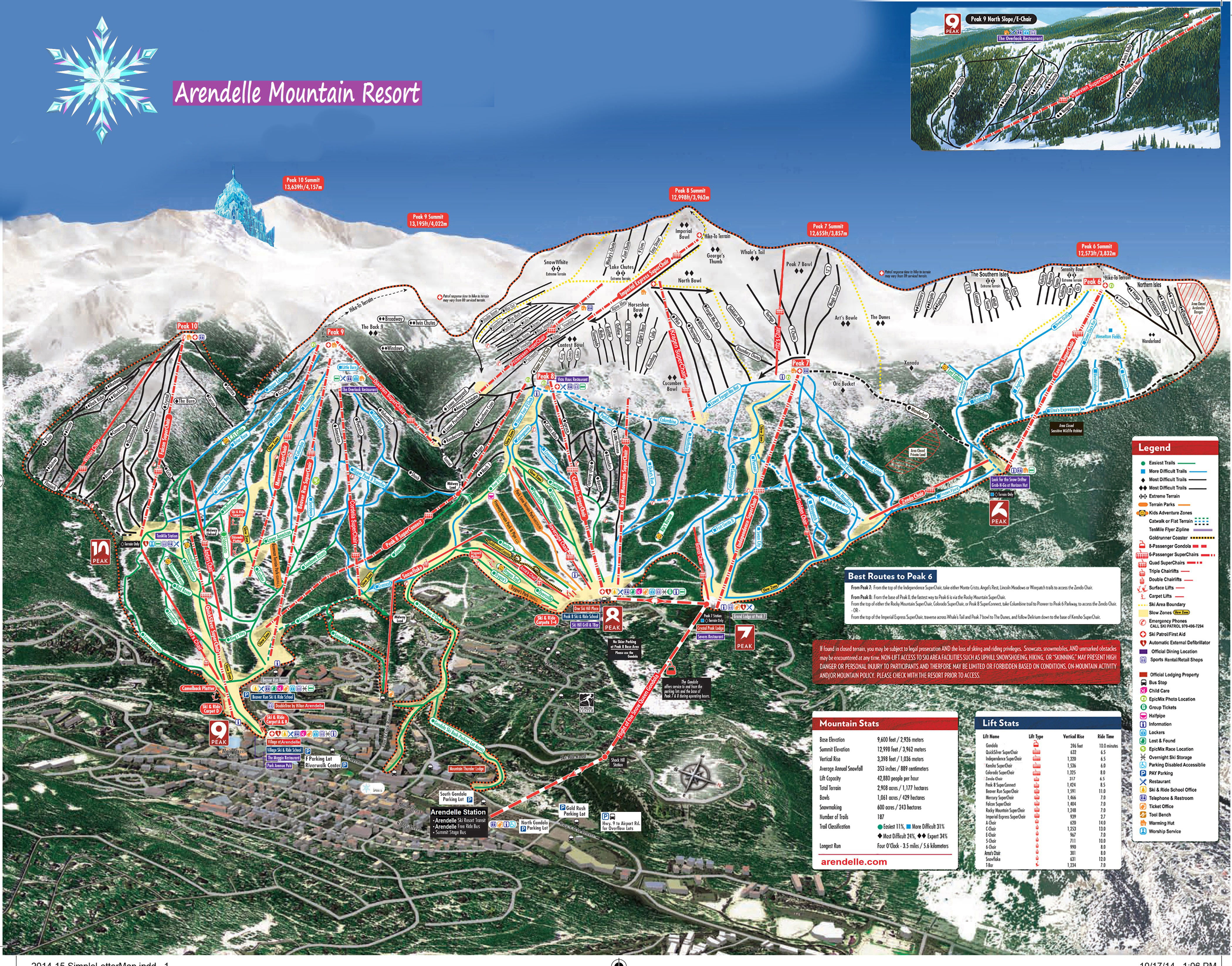 Arendelle Mountain Resort Skimap Org