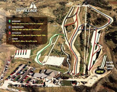 Sheffield ski village map at its time of largest operation.