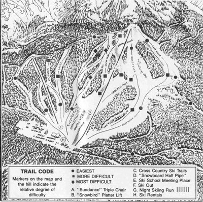 2003-07 Fairmont Hot Springs Downhill Map