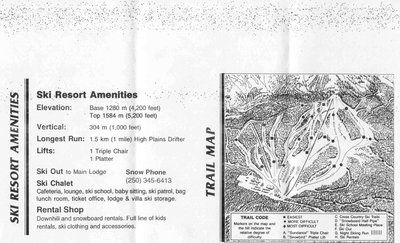 2003-07 Fairmont Hot Springs Map with Stats