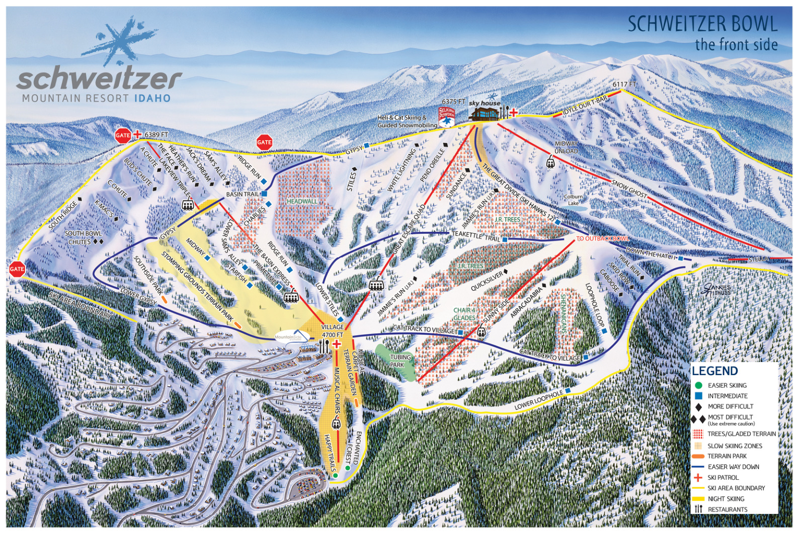 schweitzer mountain resort - skimap