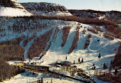 Aerial Photograph of Mount McKay Ski Area prior to closure in the mid 80s