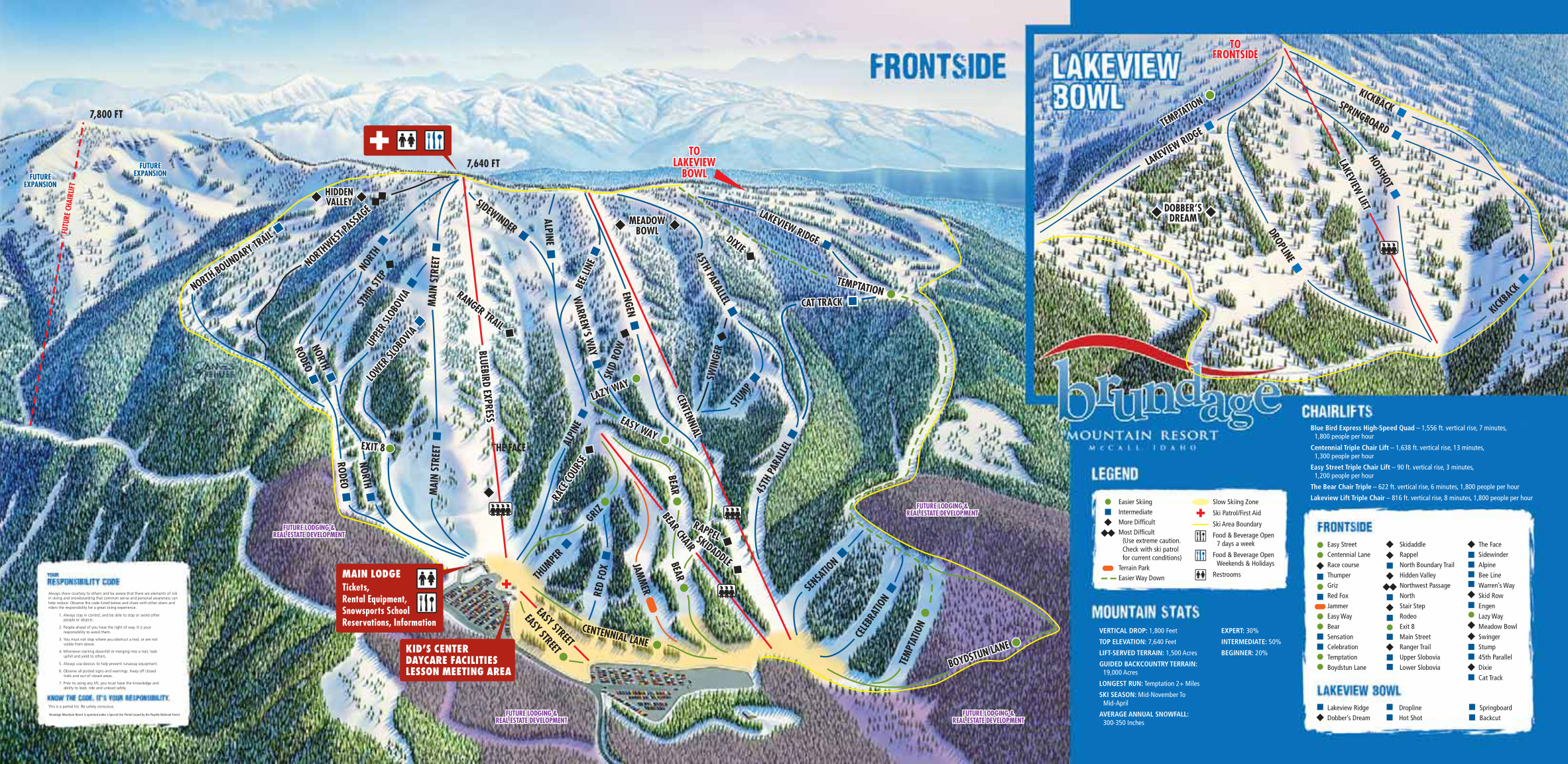 brundage mountain resort - skimap