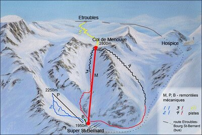 Map of routes and lifts at time of closing.