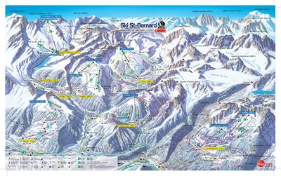 Map showing lifts (top left) at time of closure in 2009.