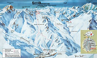 Piste map at time of closure.