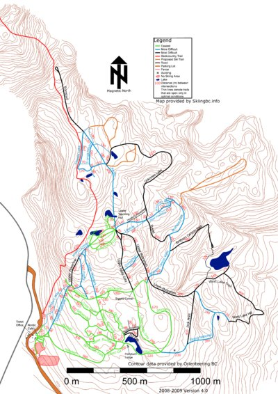 2009 Nordic (Skiingbc.info Topo Detail Map)
