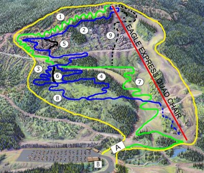 2005 July 25 Cypress Mountain Biking Map
