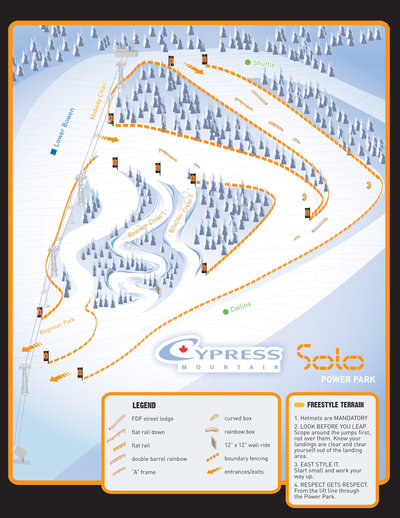 2005-06 Cypress Solo Power Park Map