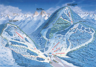 2000-05 Cypress Downhill Map