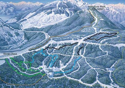 2000-05 Cypress Snowshoeing Map