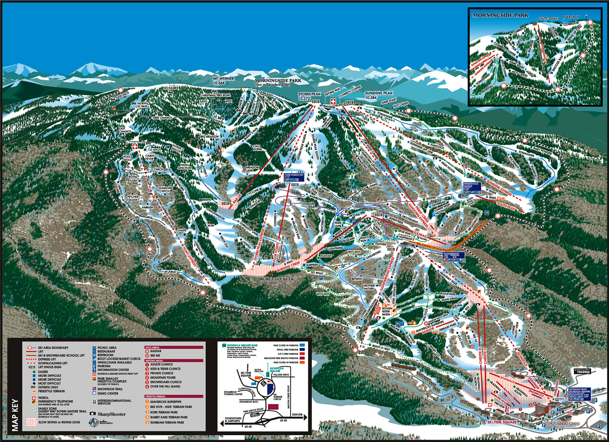 Steamboat Springs Ski Map Steamboat Ski Resort   SkiMap.org Steamboat Springs Ski Map