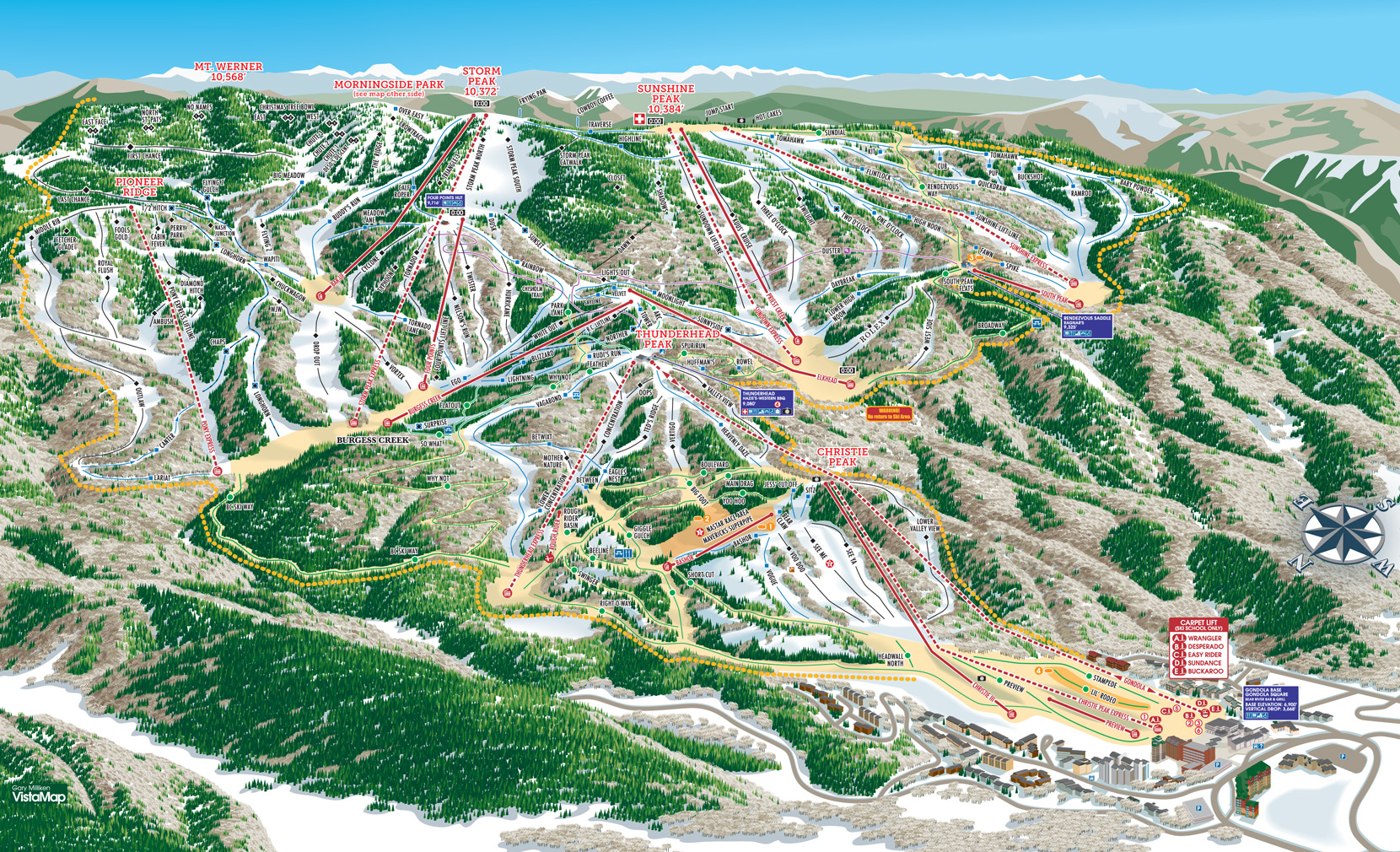steamboat ski resort - skimap
