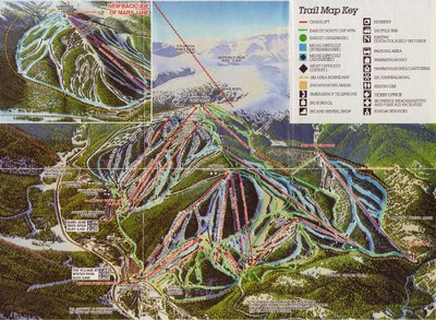 The inset was James Niehues first ski map in his career. Main map by Bill Brown