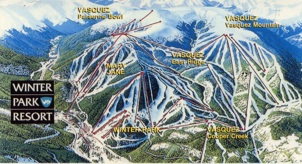 Winter Park Resort  SkiMap