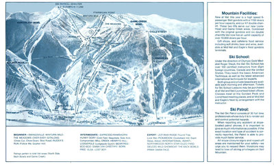 This map is from the first year of Lionshead Gondola & Game Creek Bowl