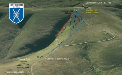Lowther Hills piste map with new slopes